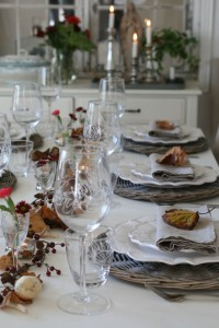 efterårs borddækning