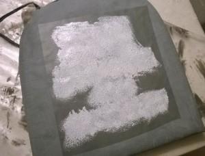 kalk maling på stof