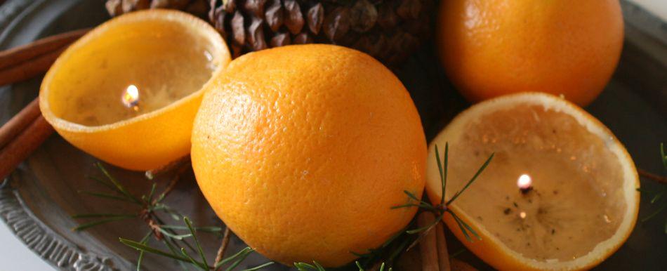 julekalender med appelsinlys
