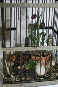 Inspiration til påske, Fuglebur med påskepynt