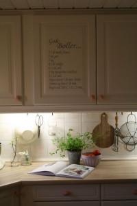 wallsticker opskrift i køkkenet