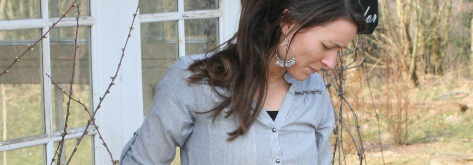 Afslappet skjorte fra Tina Wodstrup