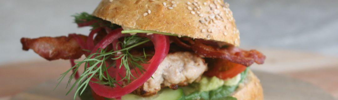 opskrift på kyllingburger