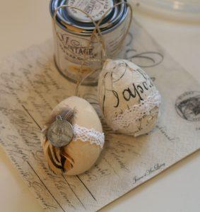 Påskeæg, Mal med kalkmaling på æg