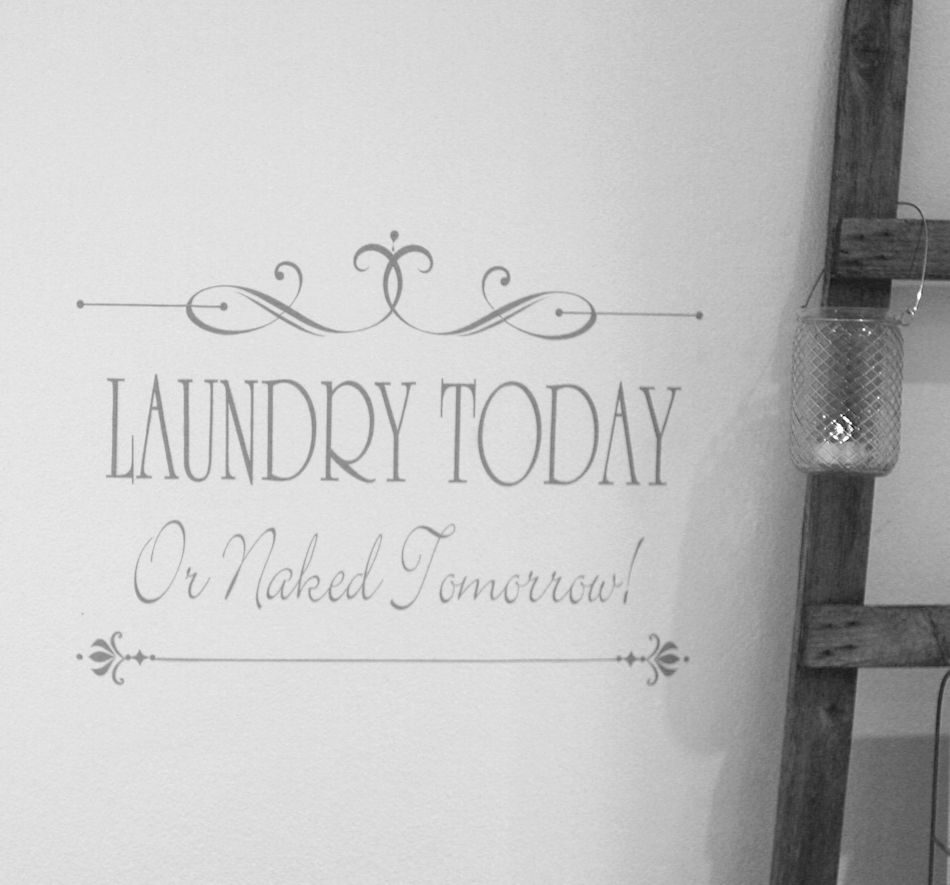Wallsticker Laundry today