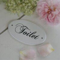 Oval-toilet-skilt-hvid-emalje