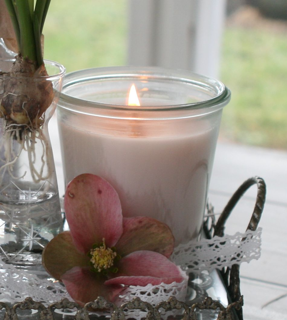 Håndlavet duftlys med vanille