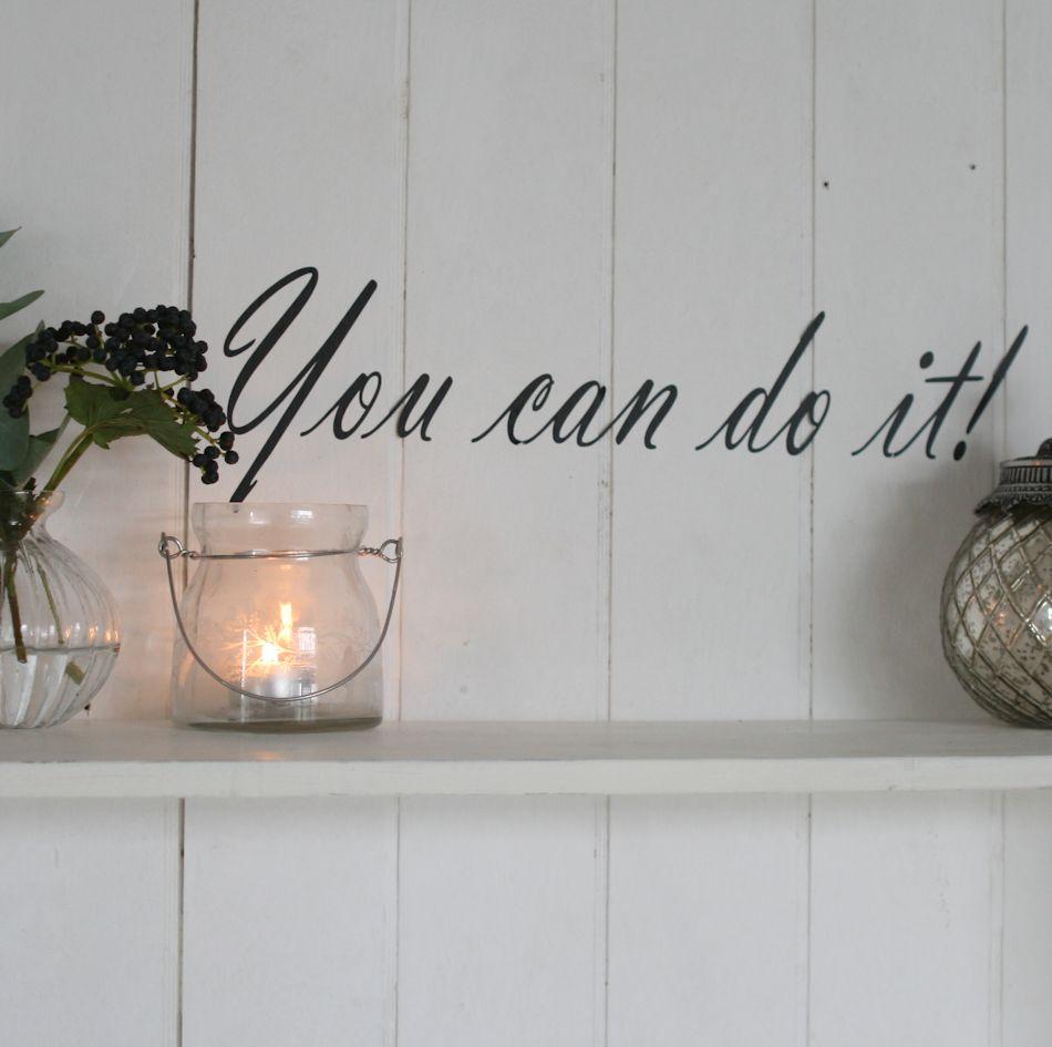 Wallstickers med tekst, citater, bogstaver samt blomster til væg ...