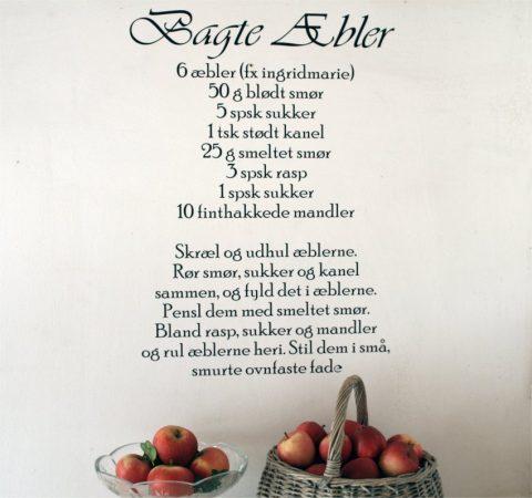 Bagte-æbler