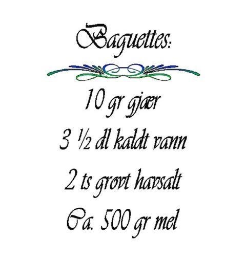 Baguettes-opskrift