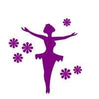 Ballerina med blomster