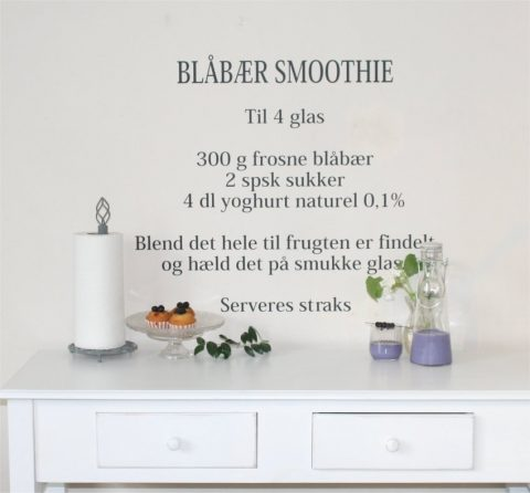 Blåbær-smoothie