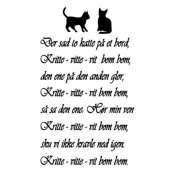 citater om katte Der sad to katte på et bord | citater om katte