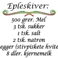 Epleskiver, norsk wallsticker