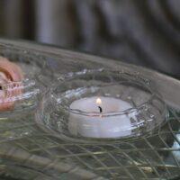 Flydeglas til fyrfadslys i glas