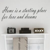 Wallsticker tekst Home is a starting place