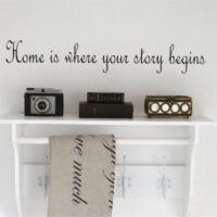 Wallsticker Home is where your story begins