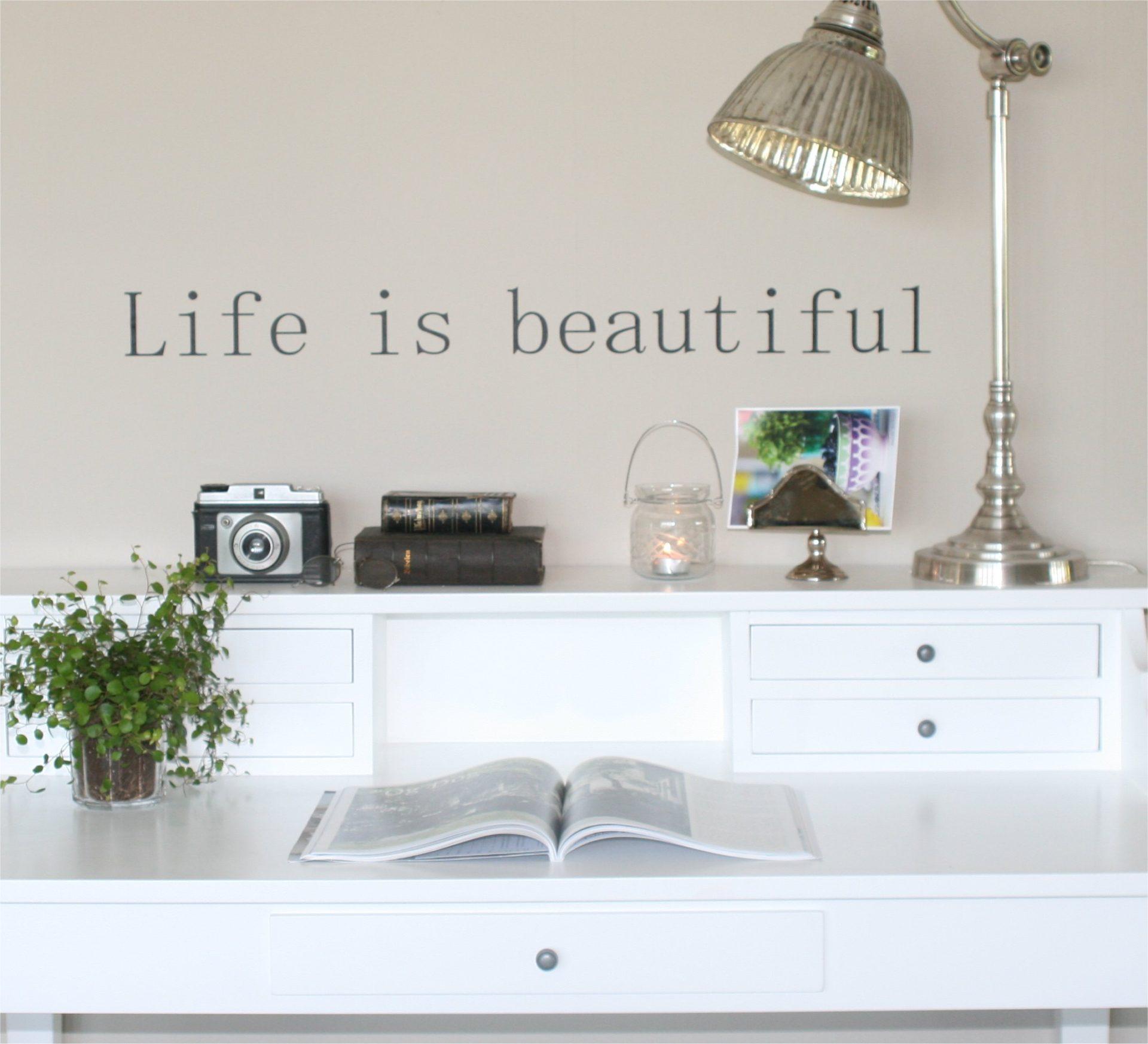 Wallsticker Life is beautiful