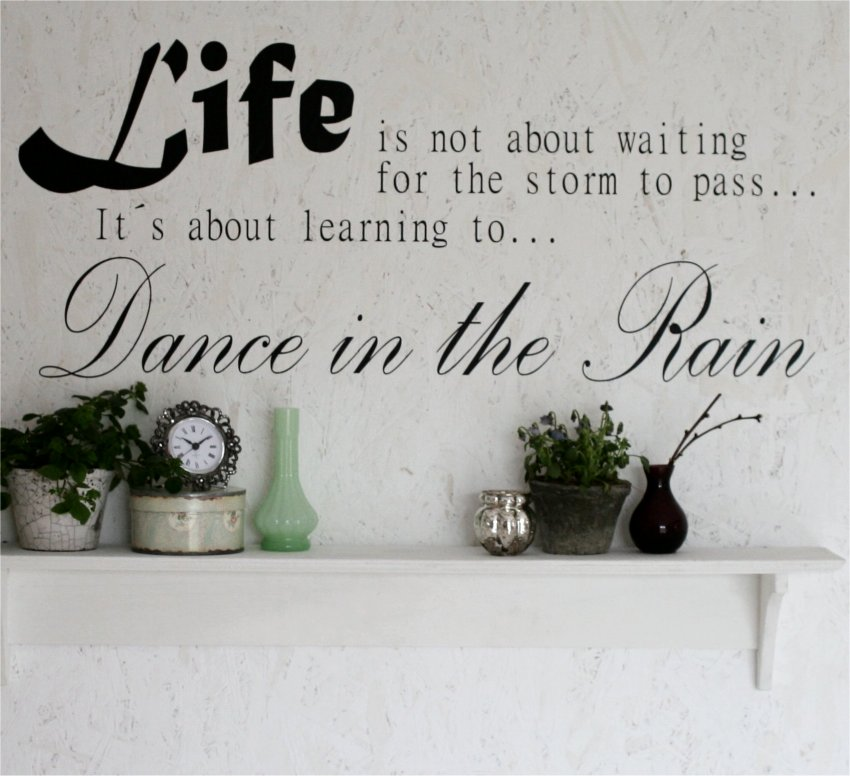 Wallsticker Life is not about waiting