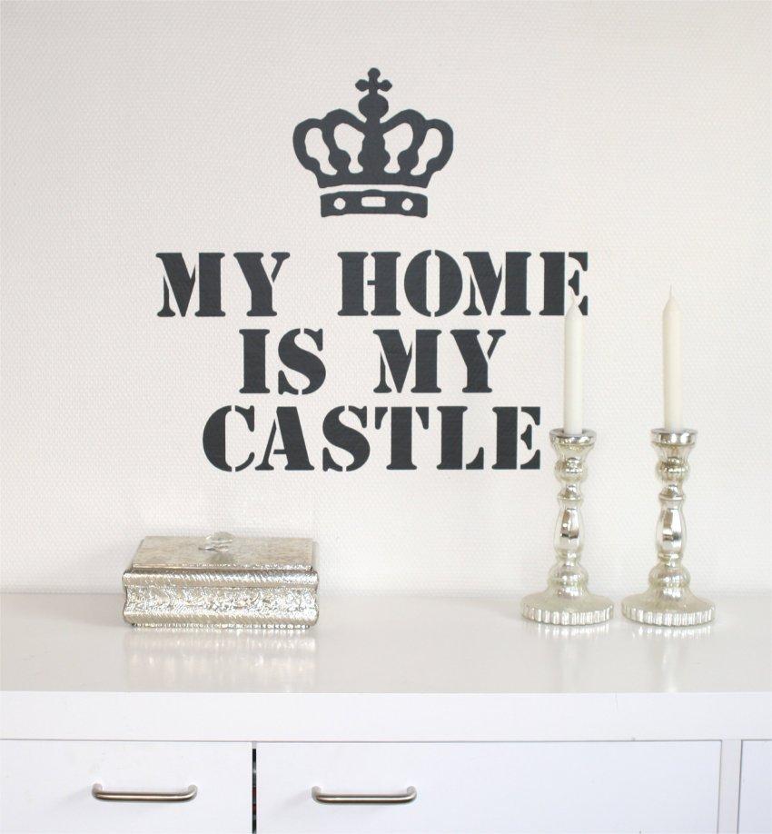 Wallsticker My home is my castle