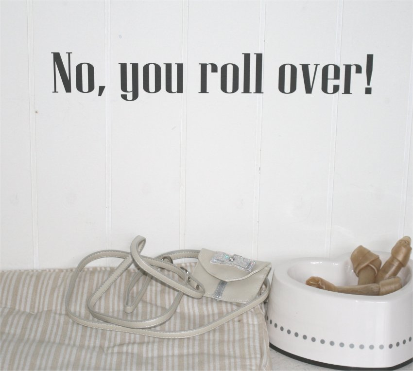 No, you roll over!