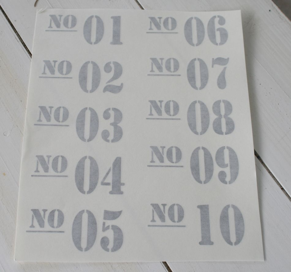 Wallsticker ark med N0 01 - No 10