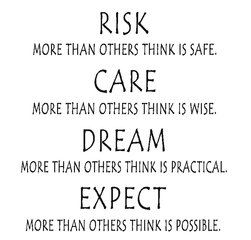 RISK more than others think is safe - STOR