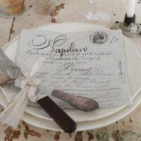 Servietter med skrift Napoleon