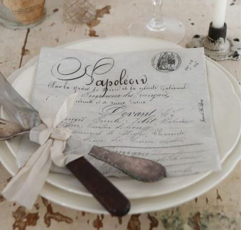 Servietter-med-skrift-Napoleon