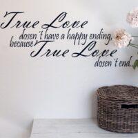 Wallsticker True Love