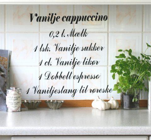Vanilje-Cappuccino