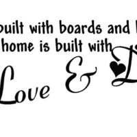 A house is built with Love and Dreams