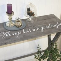 Always kiss me godnight