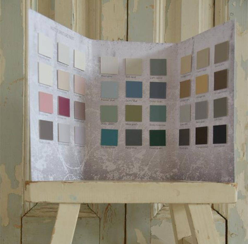 Vintage paint farvekort