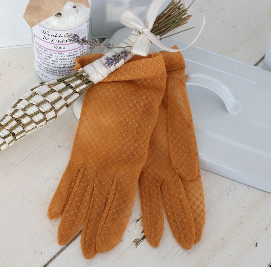 Gamle handsker i antik orange