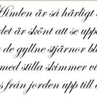 Himlen ar så harligt blå, svensk wallsticker