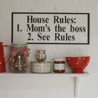 Wallsticker House rules