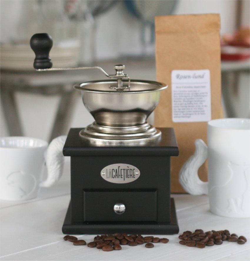 Kaffekværn i sort