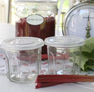 Fransk marmeladeglas med låg - 4 stk