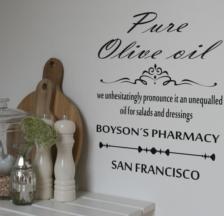 Wallsticker Pure Olive Oil