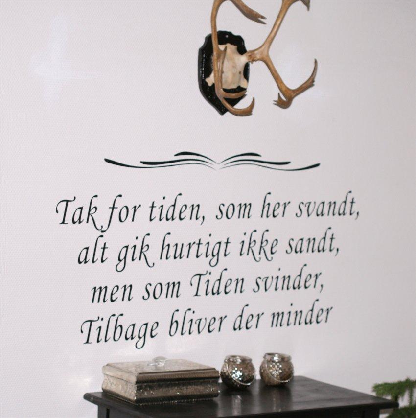 citater om tak Danske citater & tekster Wallstickers | Køb Online her hos Rosen  citater om tak