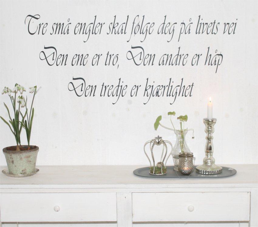 engle citater Tre små engler skal følge deg, norsk wallsticker | engle citater