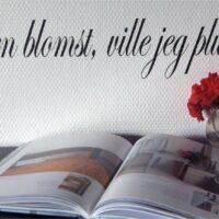 Var du en blomst, norsk wallsticker