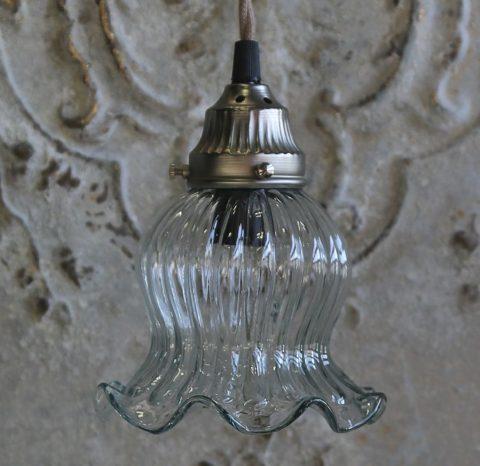 Glaslampe med loftroset