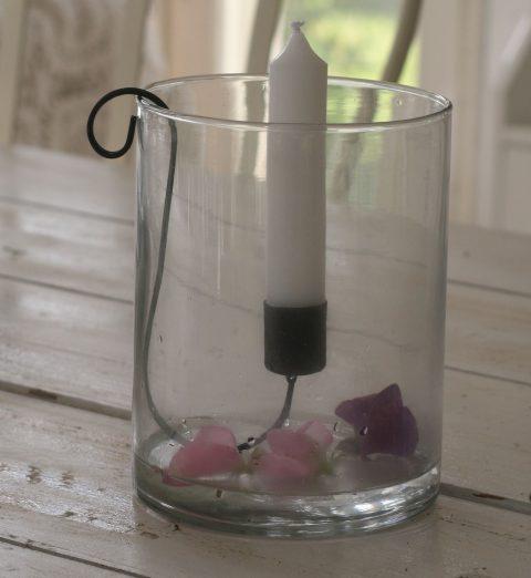 Hurricane rund glas - lille