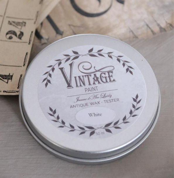 Vintage voks - hvid 50 ml