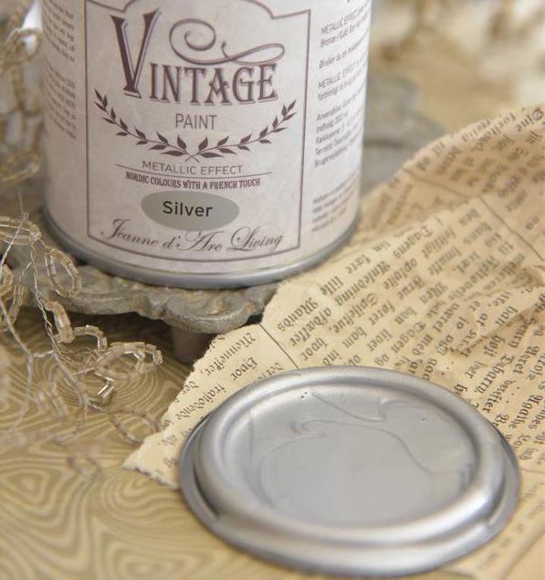 Vintage Paint Sølv metal 200 ml.