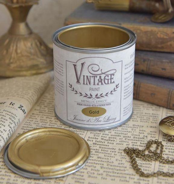 Vintage Paint guld metal 200 ml.