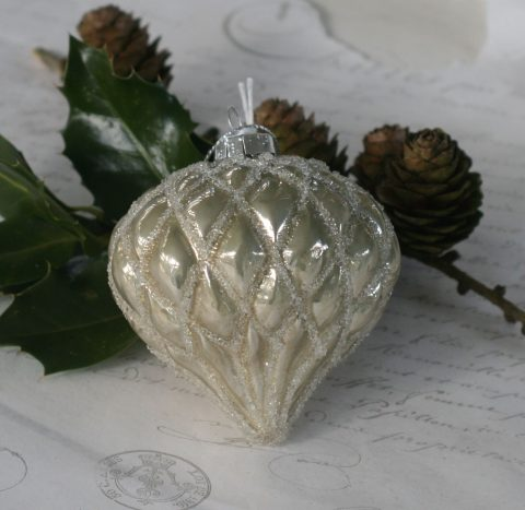 Dråbe med glimmer i antique verte