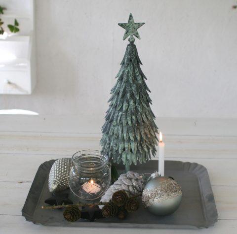 Juletræ med blade i antique verte